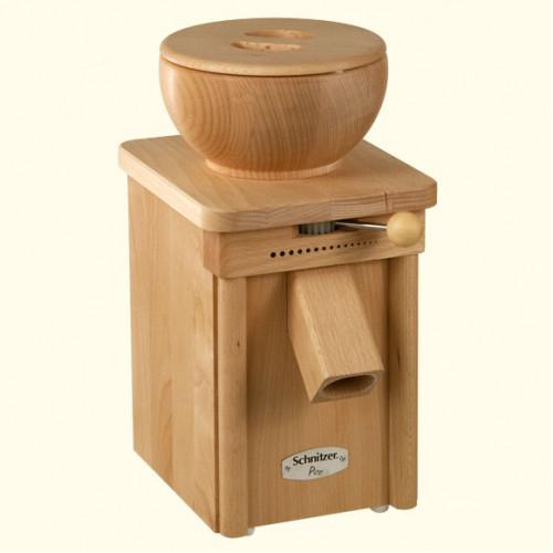 Leseni električni mlin na kamne z lesenim lijakom Schnitzer PICO