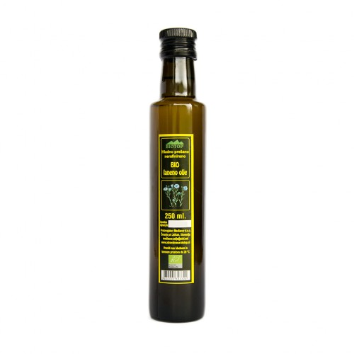 BIO laneno olje Biotop 250ml.