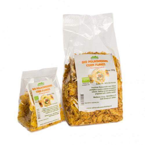 BIO polnovredni corn flakes Biotop 250g.